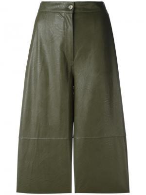 Укороченные брюки с панельным дизайном Mm6 Maison Margiela. Цвет: зелёный