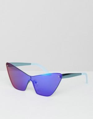 House of Holland Солнцезащитные очки с синими зеркальными стеклами Mos. Цвет: синий