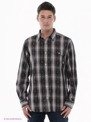 Рубашка MNS FLETCHER LS WVN Burton. Цвет: коричневый, черный