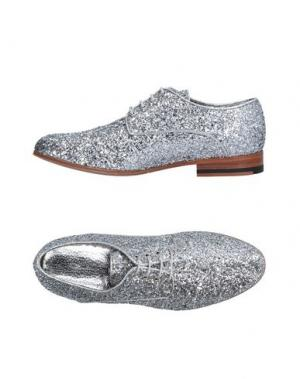 Обувь на шнурках COSTUME NATIONAL HOMME. Цвет: серебристый