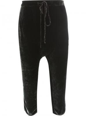 Укороченные брюки со шнурком Masnada. Цвет: чёрный