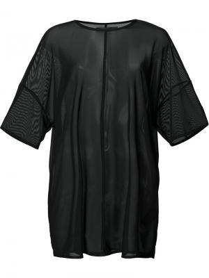 Сетчатая футболка свободного кроя Daniel Patrick. Цвет: чёрный