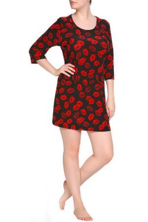 Платье домашнее LAVELLE. Цвет: черный, красный