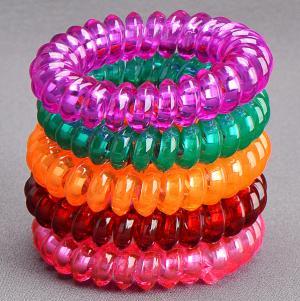 Комплект Резинок-Пружинок для волос 5 шт/уп, арт. РПВ-303 Бусики-Колечки. Цвет: разноцветный