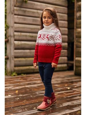 Свитер детский Scandica. Цвет: бордовый