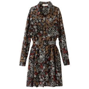 Платье короткое расклешенное с цветочным рисунком SEE U SOON. Цвет: черный/цветочный узор