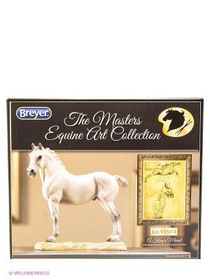 Скульптура Конь Короля (по мотивам Лео ДаВинчи) Breyer. Цвет: белый