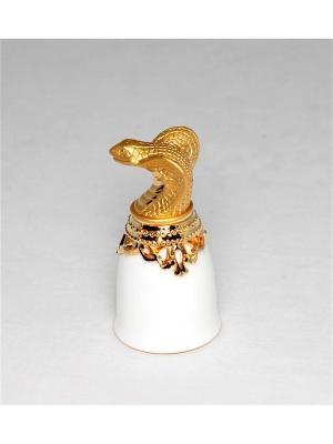 Хот-шот Символ Года - Змея фарфор бел. Win. Цвет: золотистый