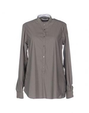 Блузка AGLINI. Цвет: темно-коричневый