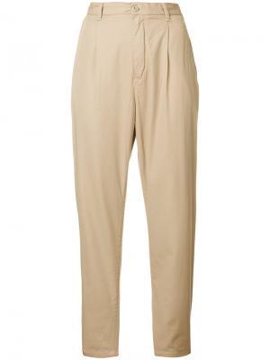 Укороченные брюки с высокой талией Carhartt. Цвет: телесный
