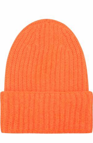 Вязаная шапка Tak.Ori. Цвет: оранжевый