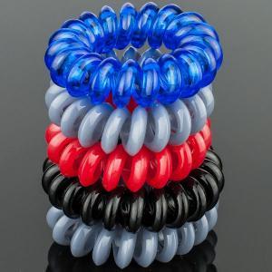 Комплект Резинок-Пружинок для волос 5 шт/уп, арт. РПВ-331 Бусики-Колечки. Цвет: серый