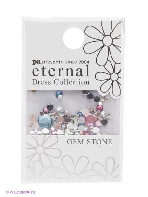 Стразы-камушки для ногтей Прозрачный Микс ETERNAL Dress Collection Gem Stone Lucent Mix PA presents since 2004. Цвет: синий