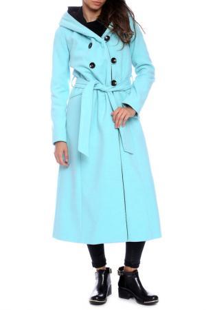 Пальто Emma Monti. Цвет: голубой