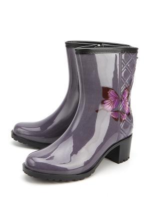 Резиновые сапоги KEDDO. Цвет: фиолетовый