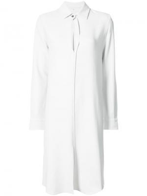 Платье-рубашка свободного кроя Peter Cohen. Цвет: серый