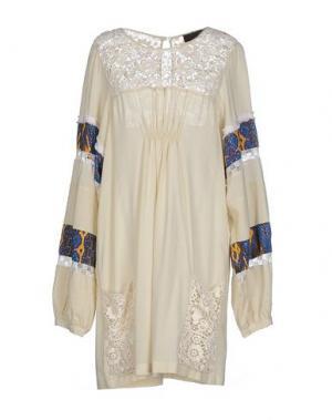 Короткое платье JO NO FUI. Цвет: бежевый