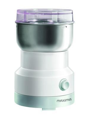 Кофемолка MAXIMA MCG-1602 (Белый). Цвет: серебристый, белый