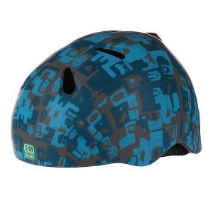 Шлем для сноуборда детский  Nino Matte Blue Camo Black Fleece Bern. Цвет: синий,камуфляжный