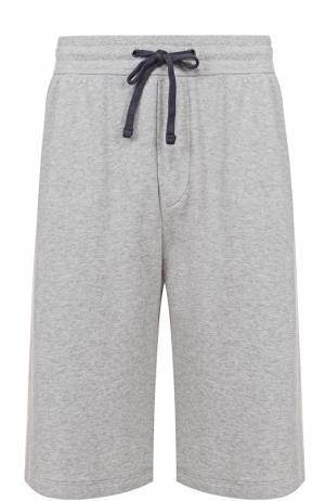 Хлопковые шорты с заниженной линией шага James Perse. Цвет: серый