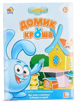 Игра настольно-печатная Домик Кроша Смешарики. Цвет: голубой