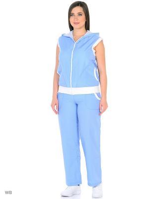 Спортивный костюм Bars. Цвет: голубой
