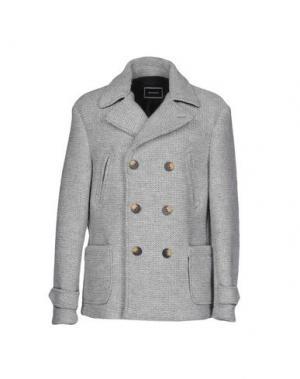 Пальто QUINTESSENCE. Цвет: светло-серый