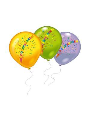 8 шариков Поздравляем Everts. Цвет: желтый