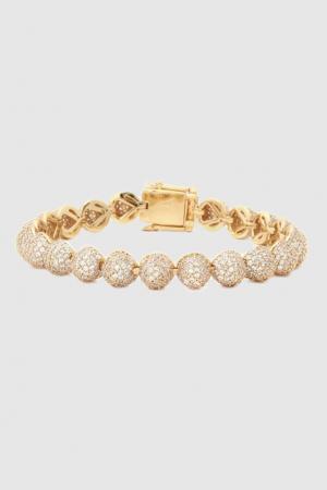 Позолоченный браслет с кристаллами Eddie Borgo. Цвет: золотой