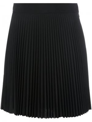 Плиссированная мини-юбка Antonio Berardi. Цвет: чёрный