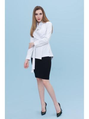 Блузка DEMURYA. Цвет: серый, белый