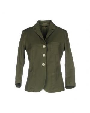 Пиджак TRUE TRADITION. Цвет: зеленый-милитари