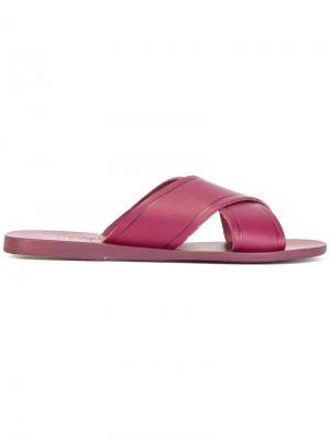 Сандалии Thais Ancient Greek Sandals. Цвет: розовый и фиолетовый