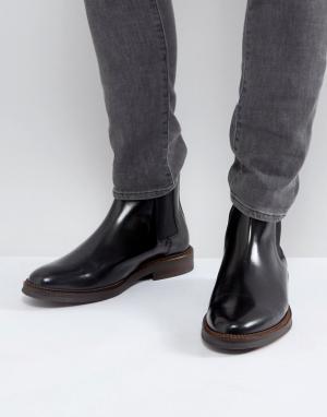 Zign Черные строгие кожаные ботинки челси. Цвет: черный