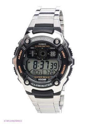 Часы Casio AE-2000WD-1A. Цвет: серебристый, черный