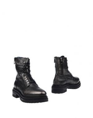 Полусапоги и высокие ботинки KEB. Цвет: стальной серый