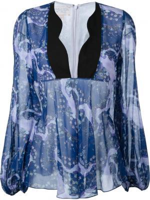 Блузка с цветочным узором Giambattista Valli. Цвет: розовый и фиолетовый