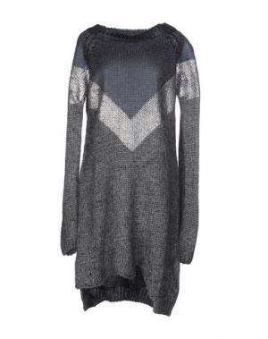 Короткое платье BRAND UNIQUE. Цвет: свинцово-серый