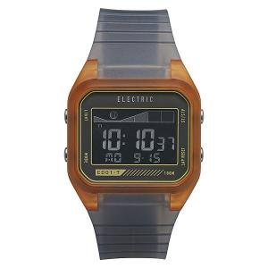 Часы  Ed01 Tide Pu Orange Glass Electric. Цвет: серый,оранжевый