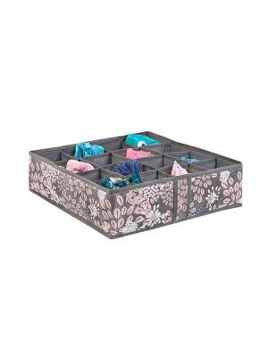 Кофр складной для мелочей 16 ячеек Серебро COFRET. Цвет: серый, розовый, белый