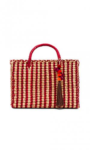 Большая сумка-тоут maldives Nannacay. Цвет: красный