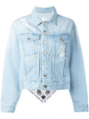 Distressed denim jacket Steve J & Yoni P. Цвет: синий
