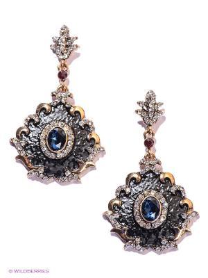 Серьги Lovely Jewelry. Цвет: черный, синий, золотистый