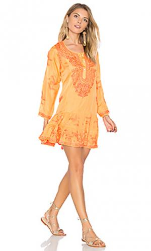 Silk long sleeve beach dress juliet dunn. Цвет: оранжевый