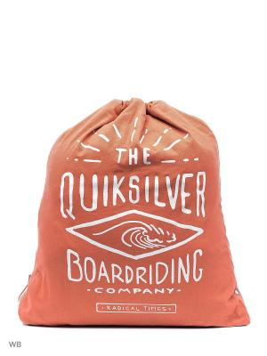 Мешок для обуви Quiksilver. Цвет: оранжевый