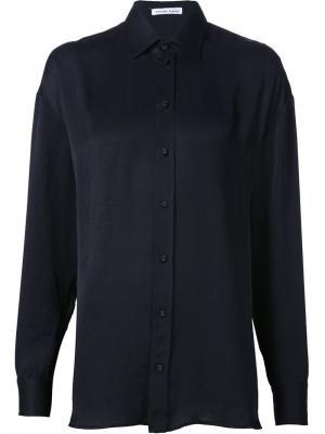Рубашка свободного кроя Tomas Maier. Цвет: чёрный
