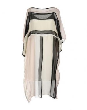 Платье до колена MAISON LAVINIATURRA. Цвет: слоновая кость