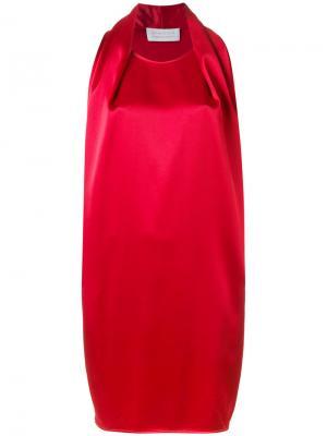 Платье миди Gianluca Capannolo. Цвет: красный