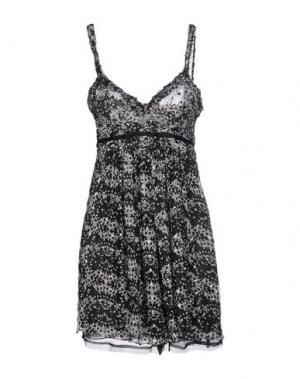 Короткое платье ROBERTA SCARPA. Цвет: черный