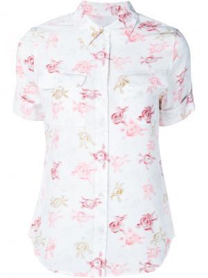 Рубашка с цветочным принтом Equipment. Цвет: белый